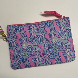 Simply southern seahorse phone clutch wristlet NWT